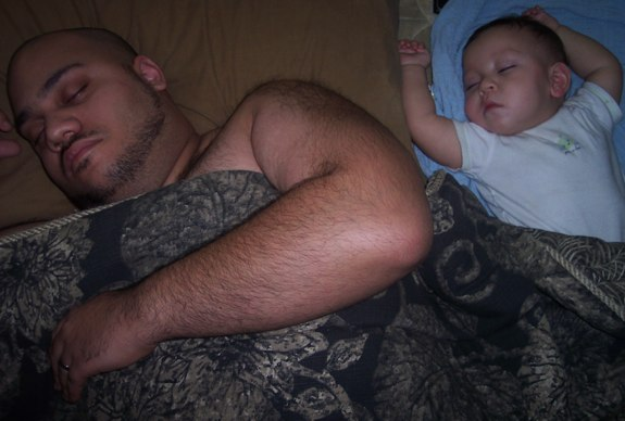 Alijah and Daddy sleeping