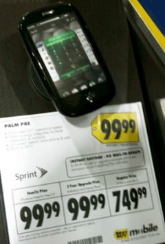Palm Pre for $99, thanks to Best Buy error