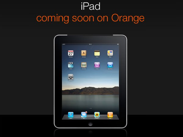 iPad on Orange