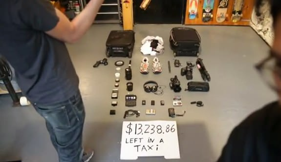 Casey Neistat $13,238.86 left in taxi