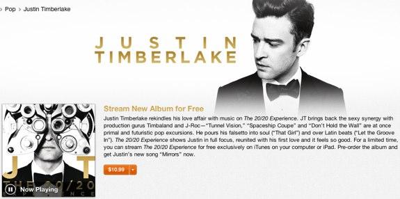 Justin Timberlake 20 20 experience free streaming