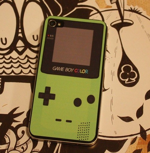 Gameboy iPhone 4 decal