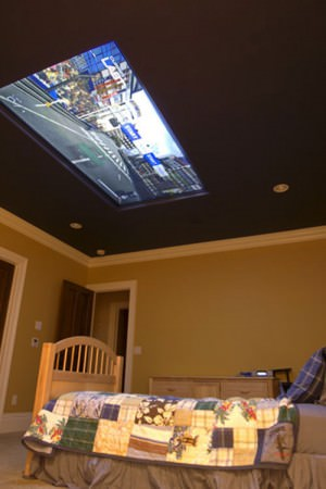 A 98-inch Screen on the Ceiling