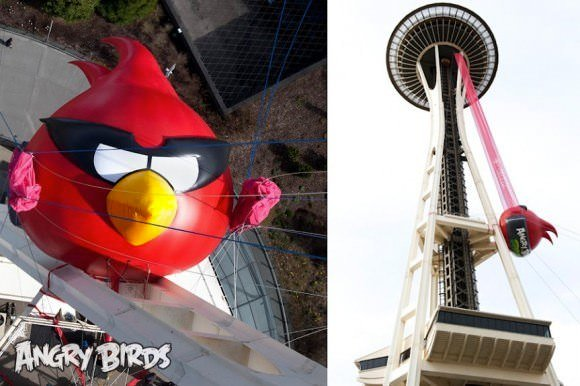 Angry Birds Seattle space needle