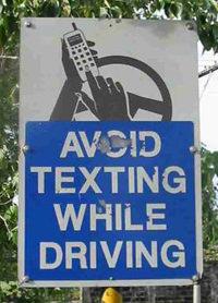 No Texting Sign