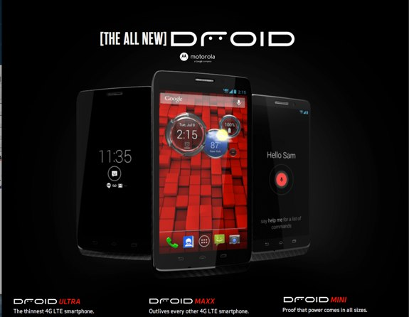 Droid ULTRA, MAXX and MINI