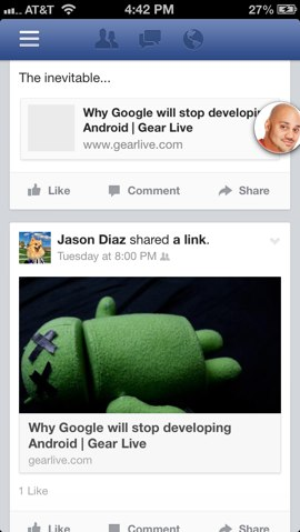 Facebook App 6.0 for iOS (2)
