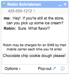Google SMS Chat