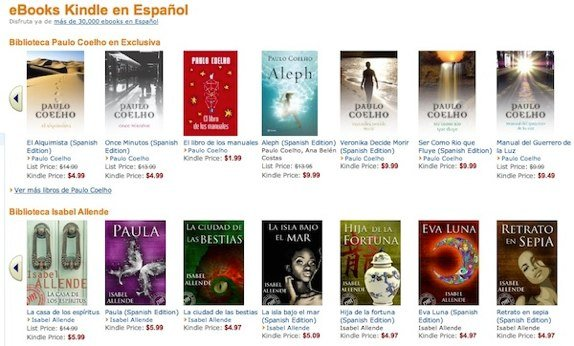 Spanish kindle store