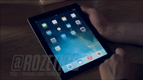 Leaked video iPad running iOS 7