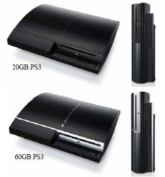 PS3-60GB vs. 20GB