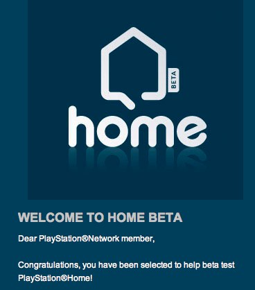 PS3 Home Beta