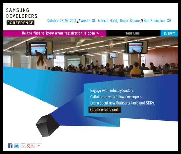 Samsung Dev Event