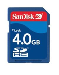 SanDisk 4GB SDHC Card
