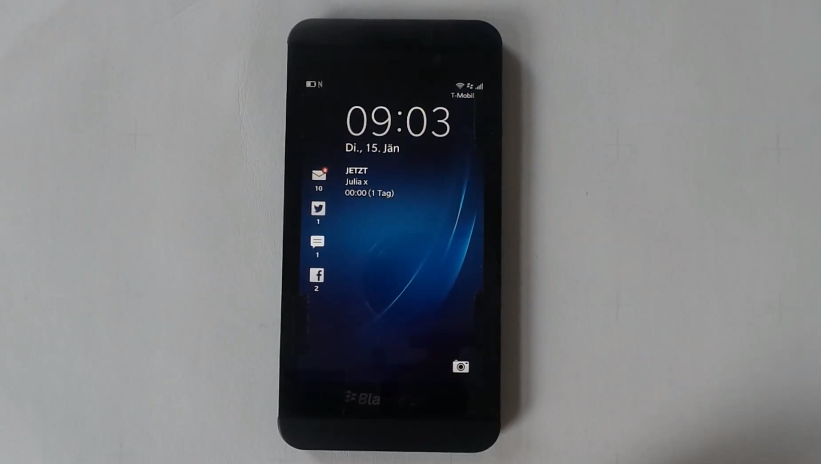 BlackBerry z10 leak