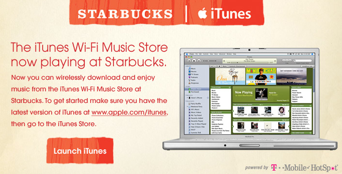 iTunes Starbucks Music Store