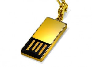 Super Talent 18-Carat Gold USB Drive