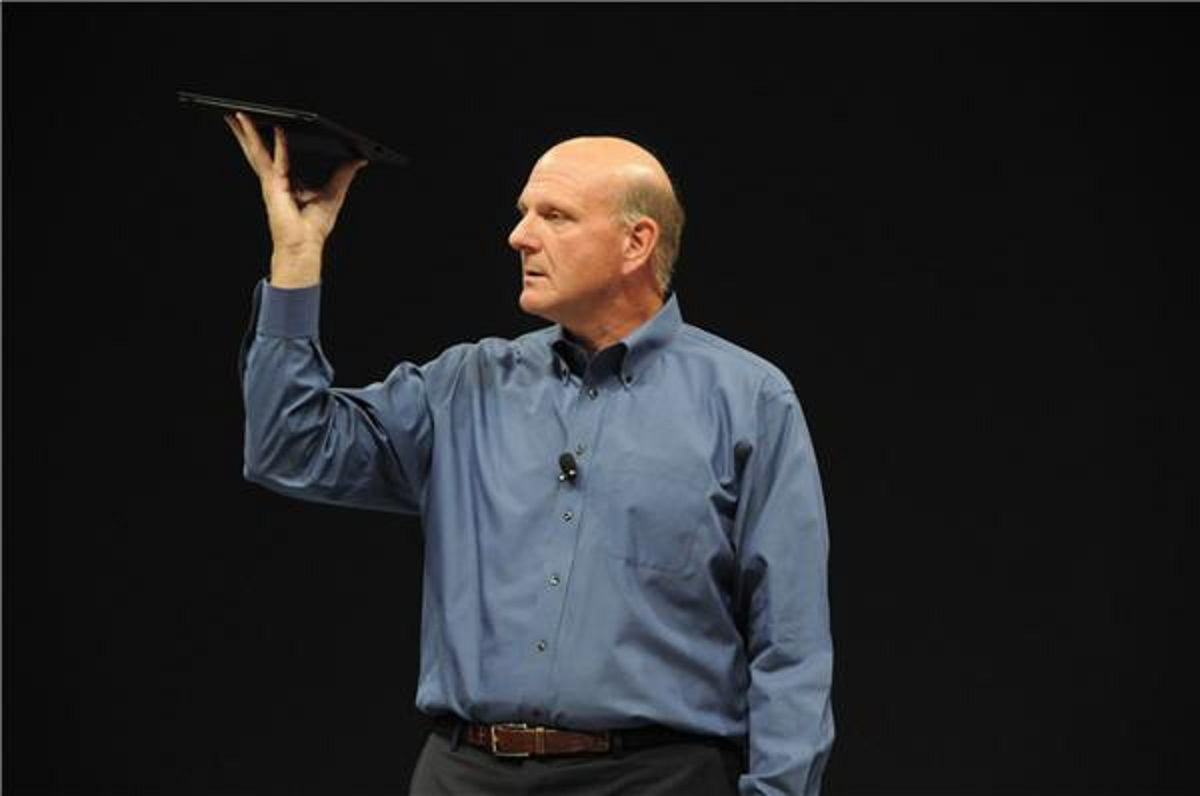 Steve Ballmer's Steve Jobs Pose
