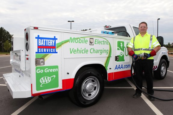 AAA Mobile Electric Vehicle Charging