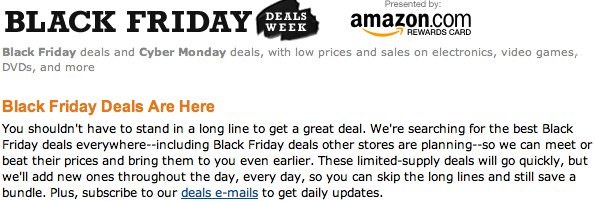 amazon Black Friday 2011