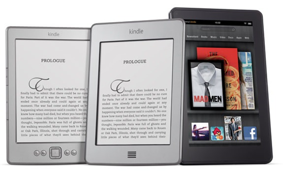 Amazon Kindle, Touch, Fire
