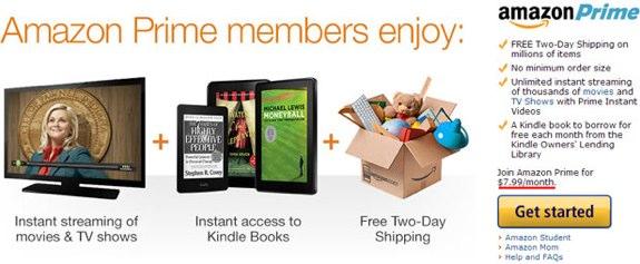 Amazon Prime $7.99 per month