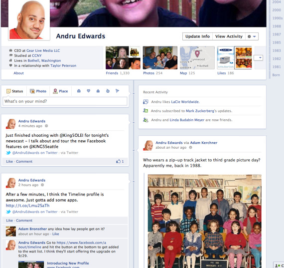 facebook timeline enable