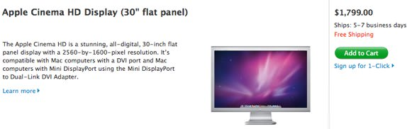 Apple 30-inch cinema display
