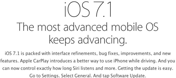 iOS 7.1 new features