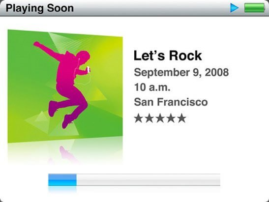 Apple Let's Rock iPod event
