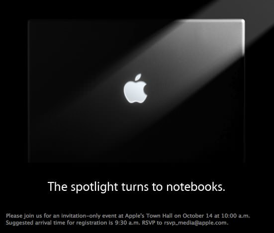 Apple Notebook Event