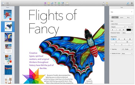 Apple Pages 5.0 iwork