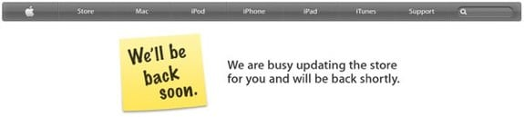 Apple Store Online is down