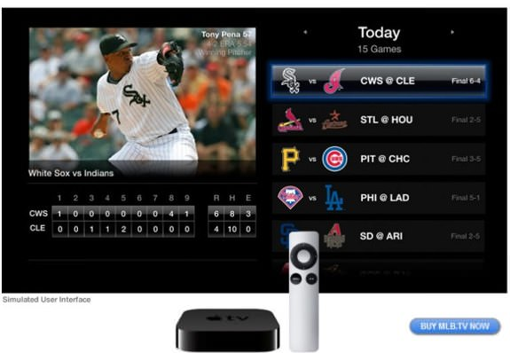 Apple TV MLB app