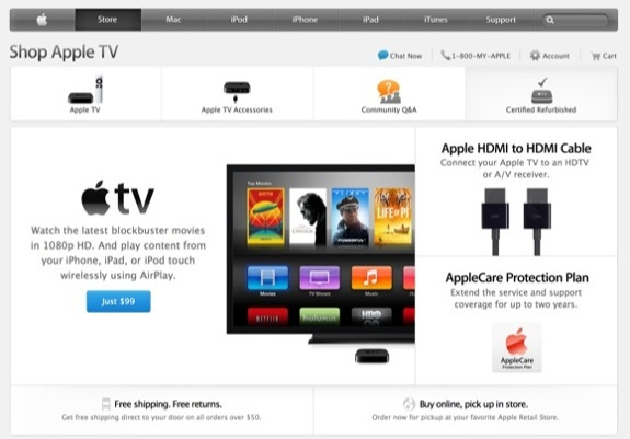Apple TV Store Section