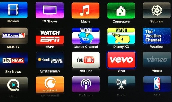 Apple TV VEVO Disney weather channel