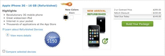 AT&amp;T iPhone 3G refurbished