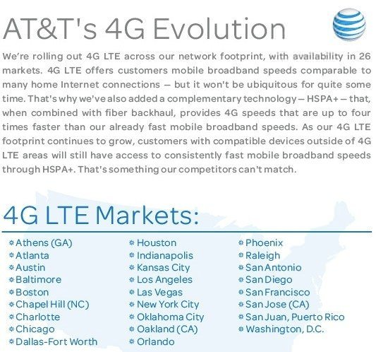 ATT 4G LTE rollout