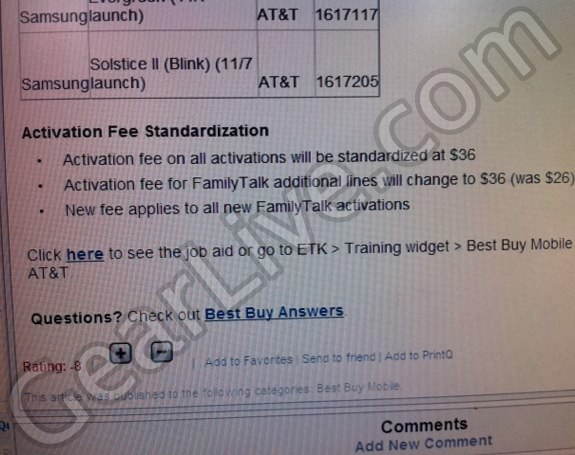 new att activation fees