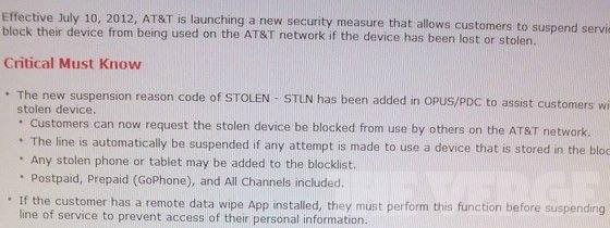 AT&amp;T stolen database