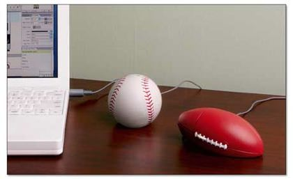 Baseball and Football Mouse