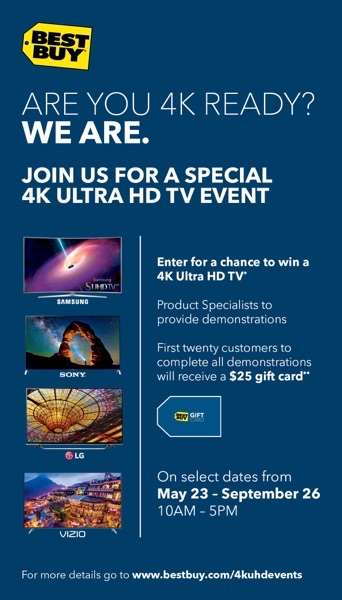 Best Buy 4K UHD events