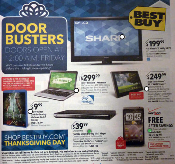 Best Buy Black Friday 2011 ad