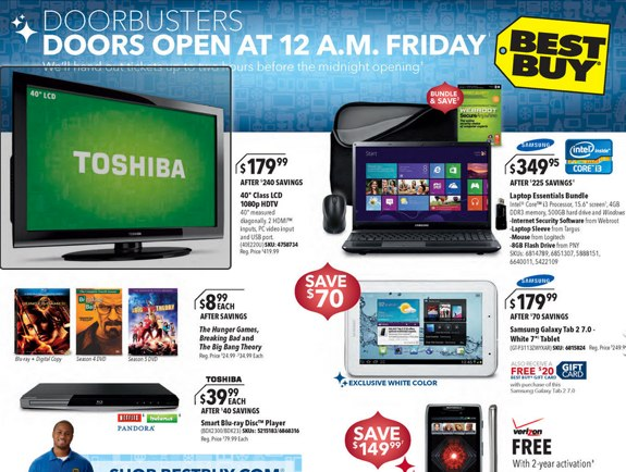 Best Buy Black Friday 2012 ad