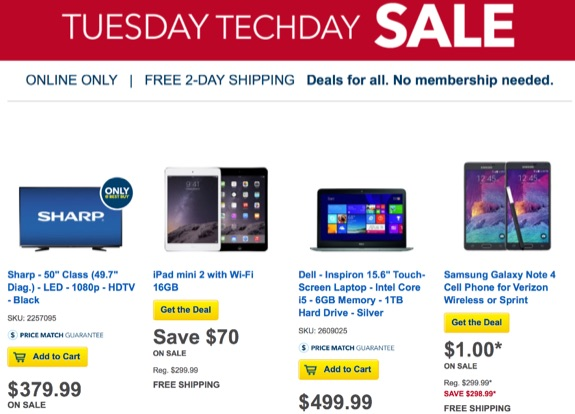 Best Buy Tuesday techday