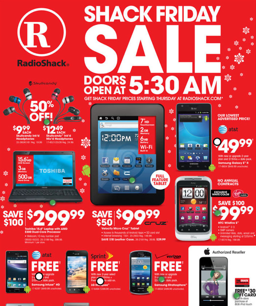 RadioShack Black Friday 2011