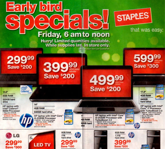 Staples Black Friday 2011