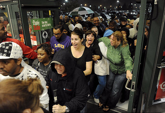 Black Friday Crowd
