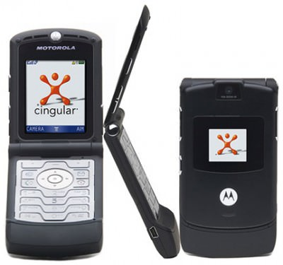 Black Motorola RAZR V3
