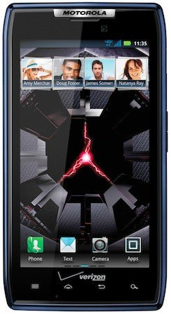 Motorola Droid RAZR Blue